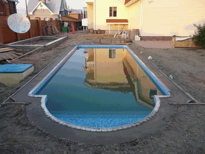 Бассейн своими руками на улице фото